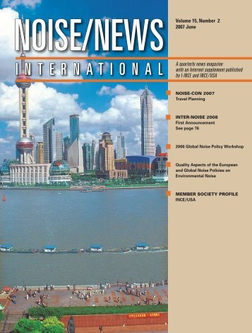 Volume 15, Number 2, June, 2007 - Noise News International