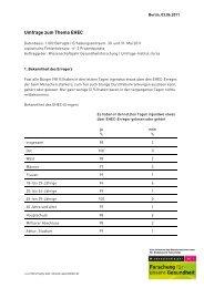Umfrage zum Thema EHEC - Wissenschaftsjahr ...