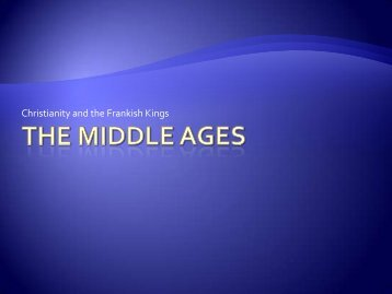 The Middle Ages - TeacherPage