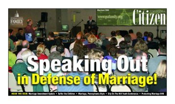 INSIDE THIS ISSUE: Marriage Amendment Update • Suffer the ...