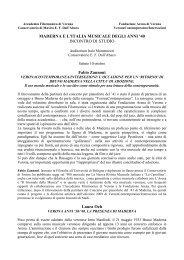 Abstracts e curricula dei relatori - Verona Contemporanea Festival