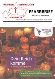 PFARRBRIEF - pfarreiengemeinschaft-trierweiler.de