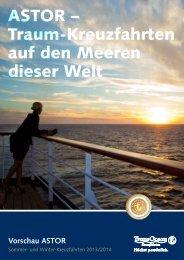 ASTOR Sommer-Kreuzfahrten April bis November 2013 - TransOcean