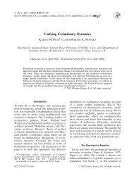Unifying Evolutionary Dynamics - Program for Evolutionary Dynamics