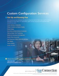 Custom Configuration Services - GovConnection