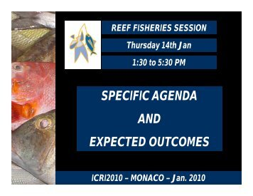 Status and challenges for coral reef fisheries