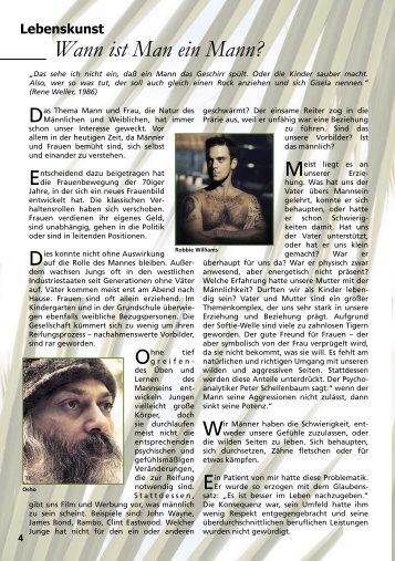 Wann ist Man ein Mann? - AURA – Magazin