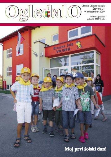 OGLEDALO, Številka 71, september 2009 - Občina Vojnik