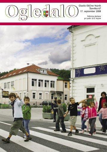 OGLEDALO, Ševilka 67, september 2008, 1. del - Občina Vojnik