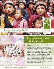 Rapport annuel 2007 - USC Canada