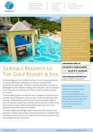 Sandals Regency La Toc Golf Resort & Spa - EarthCheck