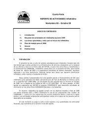 REPORTE DE ACTIVIDADES - Condesan