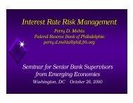 Interest Rate Risk Management - World Bank