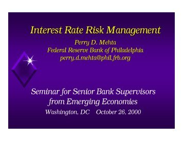 Interest Rate Risk Management - World Bank