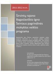 Širvintų rajono Bagaslaviškio Igno Šeiniaus pagrindinės mokyklos ...