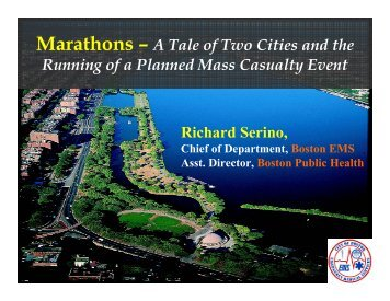 Running of a Planned Mass Casualty Event - The 2012 Integrated ...