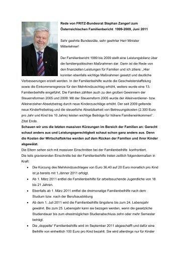 Rede von FRITZ-Bundesrat Stephan Zangerl zum ... - Liste Fritz