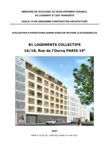 81 LOGEMENTS COLLECTIFS 16/18, Rue de l'Ourcq ... - Urbamet