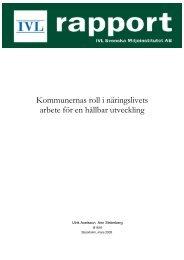 Kommunernas roll i näringslivets arbete för en hållbar utveckling