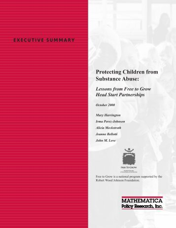 Protecting Children from Substance Abuse - Mathematica Policy ...