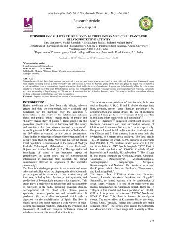 ethnobotanical literature survey of three indian medicinal plants for ...