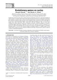 Evolutionary games on cycles - Program for Evolutionary Dynamics ...