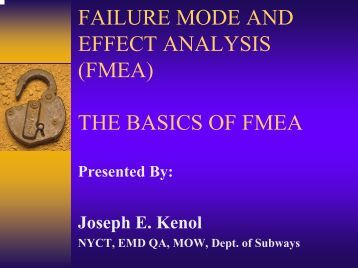 Failure Mode and Effects Analysis (FMEA) - ISMP Canada