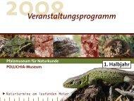 Veranstaltungsprogramm - Pfalzmuseum für Naturkunde