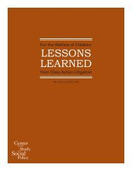 Lessons Learned from Class Action Litigation - Center for the Study ...