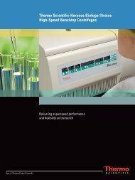 Heraeus Biofuge Stratos High-Speed Benchtop Centrifuges - TS Labor