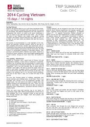 trip summary - Travel Indochina - Worldwide Agents and Partner ...