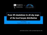 From 3D simulations to all-sky maps of the local baryon distribution