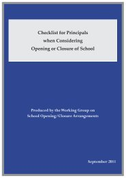 Checklist for Principals when Considering Opening or Closure of ...