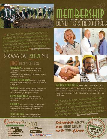 Membership Benefits Brochure - Owatonna Chamber of Commerce ...