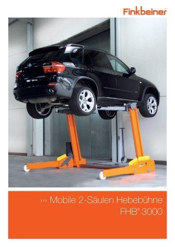 Finkbeiner Hebebühne FHB 3000 SS Prospekt als PDF