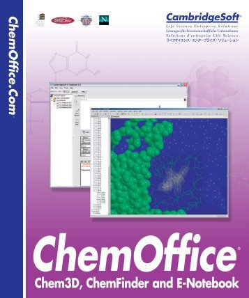 Chem3D Users Manual - CambridgeSoft
