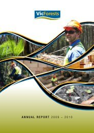 ANNUAL REPORT 2009 – 2010 - VicForests