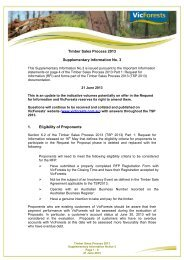 Timber Sales Process 2013 Supplementary Information ... - VicForests