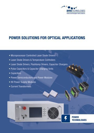 power solutions for optical applications - AMS Technologies