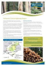 VicForests' Central Highlands Region