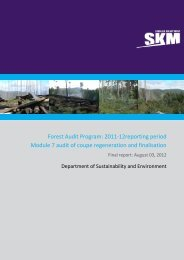 Forest Audit Program: 2011-12reporting period Module ... - VicForests