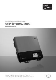 WINDY BOY 3600TL/5000TL - SMA Solar Technology AG