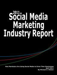 How Marketers Are Using Social Media to Grow Their ... - Craig Kunce