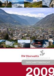 Geschäftsbericht 2009 - RW Oberwallis