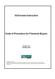 Code of Procedure for Firewood Log Buyers - VicForests