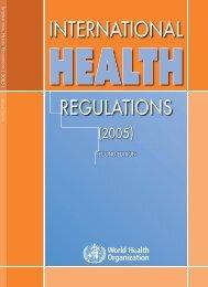 International Health Regulations (2005) - libdoc.who.int - World ...