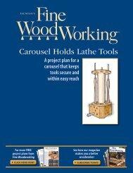 Carousel Holds Lathe Tools