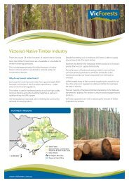 Victoria's Native Timber Industry - VicForests
