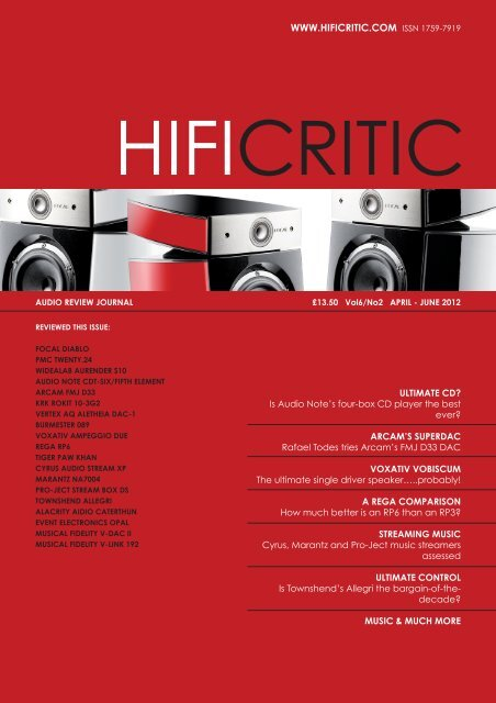 WWW HIFICRITIC COM ISSN 1759-7919 - Audio Note