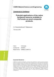 Potential applications of the native hardwood resource ... - VicForests